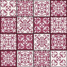 Gorgeous seamless patchwork pattern from dark red and white Moroccan tiles, ornaments. Can be used for wallpaper, pattern fills, web page background,surface textures.
