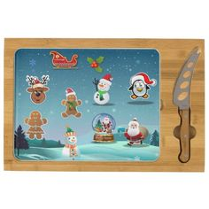 50% Off Your Holiday Party Essentials! | USE CODE: SUNDAYDEAL65 | good until Dec. 7, 2014 at 11:59 PM PST | Holidays Scene Rectangular Cheeseboard