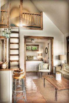 Casa con legno stile provenzale