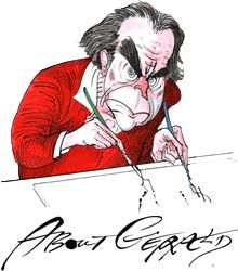 Meet calligrapher and illustrator Gerald Scarfe. The man who creates the beautiful calligraphy and drawings of Pink Floyd The Wall covers and shows.