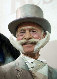 Winner of best imperial partial beard - Karl-Heinze Hille