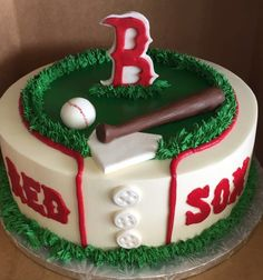 Boston Red Sox Grooms Cake - Simply Decadent Bakery