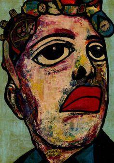 "Saatchi Art Artist CARMEN LUNA; Painting, ""21-Faces. Sensible."" #art http://www.saatchiart.com/art-collection/Painting/FACES-Artista-Carmen-Luna/71968/86481/view"