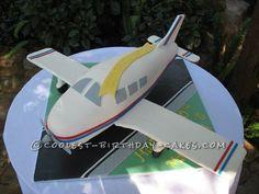 Aeroplane Birthday and Anniversary Cake... This website is the Pinterest of birthday cake ideas #voteforthiscake