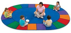 Ideal for games, group activities, circle time and more, Lakeshore's super-versatile A Place for Everyone Circle Time Classroom Carpets are a perfect fit in any classroom!