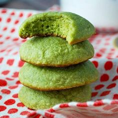 Matcha cookies have the delicate flavor and color of green tea. These soft, pillowy and chewy green tea cookies are perfect with tea.
