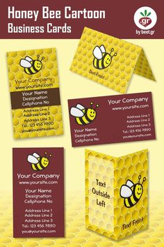 Use this cute flying honey bee on your next business card design. Many options for you to customize. Honey Bee Cartoon, Business Card Design, Business Cards, Cute Cartoon Characters, Customizable Gifts, Honeycomb, My Images, Lipsense Business Cards