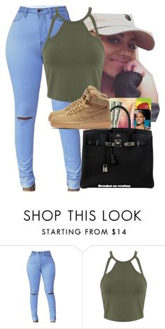 """""""Olive"""" by shecutetho ❤ liked on Polyvore featuring Miss Selfridge and NIKE"""