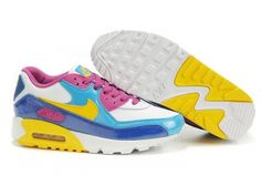c79d9620e3ed51 Now Buy 345017 173 Womens Nike Air Max 90 GS 2007 White Midwest Gold Orion  Blue Blue Sapphire Super Deals Save Up From Outlet Store at Pumacreeper.