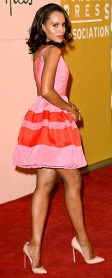 Kerry Washington looks amazing in brights.