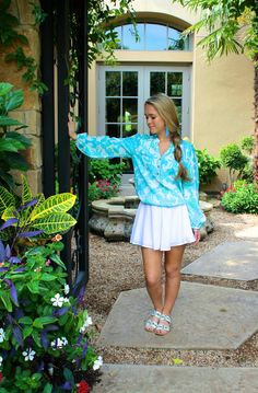 Lilly Pulitzer elsa top Derby Day, Preppy Outfits, Beautiful Blouses, Blue Tops, Lilly Pulitzer, Going Out, Southern Charm, Southern Prep, Turquoise