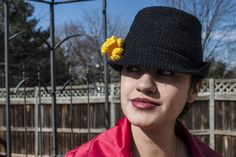 A Garden of Fedoras, free crochet pattern with mutli sizes by Crochet Kitten - a great alternative to a chemo cap for Halos of Hope