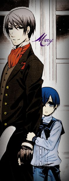 WAIT WAIT WAIT........ I JUST REALIZED SOMETHING...... Since sebby looks almost exactly like Vincent(ciels dad) that means that ciel will look like sebby when he gets older