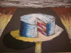 Wayne Thiebaud Cakes and Pies...my co-op did this, but better. I'm going to have to meld the ideas together to get my own version!
