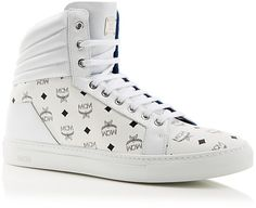 MCM Carryover High Top Sneakers | BLOOMINGDALE'S saved by #ShoppingIS
