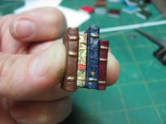 DIY Mini Book Stack would be perfect on a ring or hair accessory! | 1 inch minis: Stacks of Books
