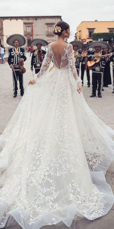 Courtesy of Julie Vino Wedding Dresses San Miguel Collection; Formal Dresses For Weddings, Sexy Wedding Dresses, Princess Wedding Dresses, Mexican Wedding Dresses, Mexican Wedding Traditions, Long Sleeve Bridal Dresses, Backless Wedding, Gorgeous Wedding Dress, Bridal Gowns
