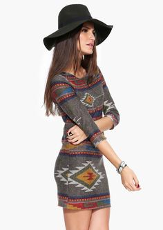 Gavin Aztec Sweater Dress//  I know 2 girls this would look great on!