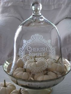 Absolutled love this! Mercury Bowl and Cloche! #Pumpkins