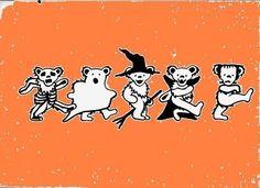 halloween grateful dead bears :D