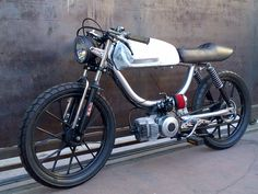 SOLD $ 6,000 Mean looking and monster fast Motobecane 50cc Polini h2o 70 mph custom moped ready to blast through the dark streets of downtown LA late at night… if you happen to be awake you m…
