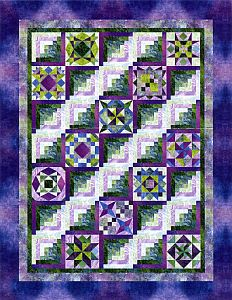 """I was literally thinking """"I want a log cabin that's mixed w/ other patterns"""", and then I stumbled upon this. How cool! HC"""