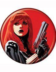 Black Widow Gun Raised Red Button