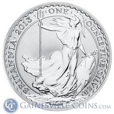 2013 1 oz Silver #Britannia Bullion Coins http://www.gainesvillecoins.com/category/293/silver.aspx