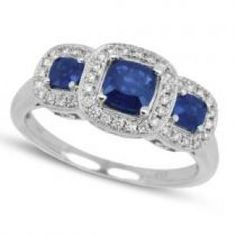 Allurez 3-Stone Diamond and Blue Sapphire Ring 14k White Gold.jpg