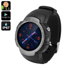 Android Phone Watch Z9 - GSM   3G, 1.33 Inch Screen, 5.1, Google Play, IP67, 5MP Camera (Grey)