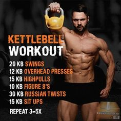 Kettlebell Workout – Hardcore Bell Training for A Strong Body ! Kettlebell Workout – Hardcore Bell Training for A Strong Body ! Fitness Workouts, Sport Fitness, Body Fitness, Fun Workouts, Fitness Tips, Body Workouts, Cross Fit Workouts, Mens Fitness, Circuit Workouts