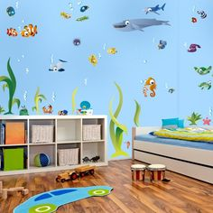 Bunt, Wal, Interior Decorating, Bedrooms, Girl Rooms, Murals, Ocean Kids  Rooms, Nooks, Seahorses, Decorating Ideas, Communities Unit, Interior Home  ...