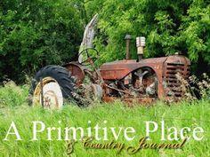 my husband loves vintage tractors