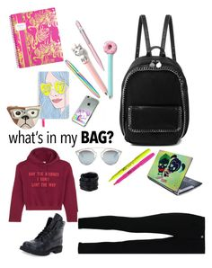 """Whats In My Backpack"" by paolacaligirl ❤ liked on Polyvore featuring STELLA McCARTNEY, Caran D'Ache, Lilly Pulitzer, Vetements, Valentino, Christian Dior, Saachi, FOSSIL, backpack and inmybackpack"