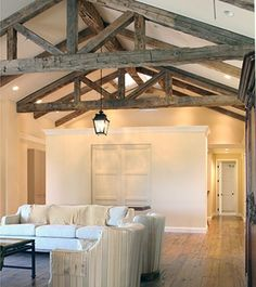 Reclaimed beams from old barns schools and factories aren't just chic but eco-mindful too!