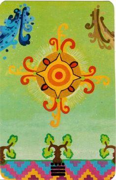 XIX. The Sun - Xultun Tarot  by Peter Balin
