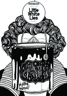 Little White Lies by Clare Hooper Little White, Editorial Design, Magazine Covers, Posters, This Or That Questions, Projects, Christmas, Fictional Characters, Inspiration