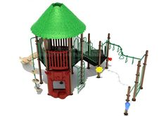 Noahs Park and Playgrounds - Diamond Head Structure, Add a little of the tropics to your playground with the Diamond Head Structure. This tropical themed play structure is a great way to encourage outdoor play for school aged kids. Watch them jump into an imaginary jungle from the Pea Pod or Vertical Climbers.(http://www.noahsplay.com/ada-equipment/ada-structures/diamond-head-structure/)