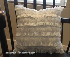 Cute!  Great idea to breathe some life into some old / or cheap new pillows.
