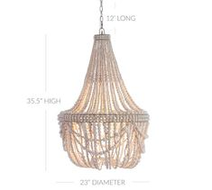 Whitewashed wood beads give the Francesca Chandelier a fresh, summery look. Whether in a dining room or a seating area, it's a natural complement to any decor style. Wood Bead Chandelier, Chandelier Bedroom, White Kitchen Inspiration, Room Inspiration, Coral Design, Whitewash Wood, Traditional Bedroom, Cool Lighting, Pottery Barn