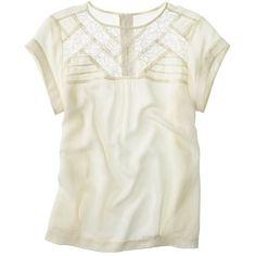 Madewell Silk Intermission Top ❤ liked on Polyvore