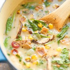 Mushroom, Corn and Bacon Chowder