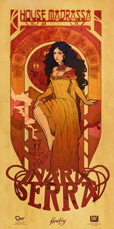 Four Art Nouveau Beauties Grace the Verse Strong. Beautiful. Deadly. Sexy. We offer those attributes in spades with the Firefly Les Femmes Poster Set. Created by designer Megan Lara using the sinuous
