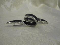 Rare Marcel Boucher Brooch & Earring Set Black by LAmourDAntique, $300.00
