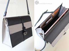 Elegante Handtasche aus SnapPap von Snaply in Lederoptik