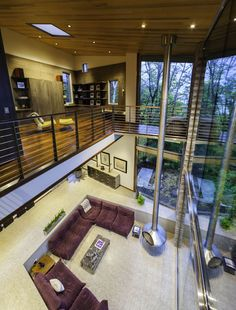 M-22 House overlooking West Grand Traverse Bay by Michael Fitzhugh Architect