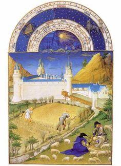 Les Très Riches Heures du Duc de Berry : juillet, Limbourg Brothers of the Low Countries