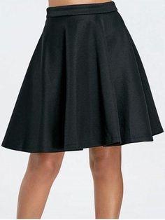 #RoseGal.com - #RoseGal Solid Color Flare Skirt For Women - AdoreWe.com