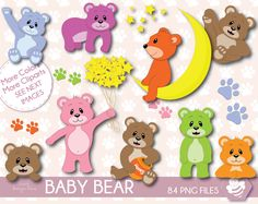 Bear Clipart, Clipart Baby, Baby Clip Art, High Quality Images, Baby Boy, Teddy Bear, Scrapbook, Invitations, Handmade Gifts