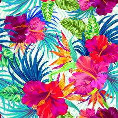 vector tropical flowers. vector art illustration